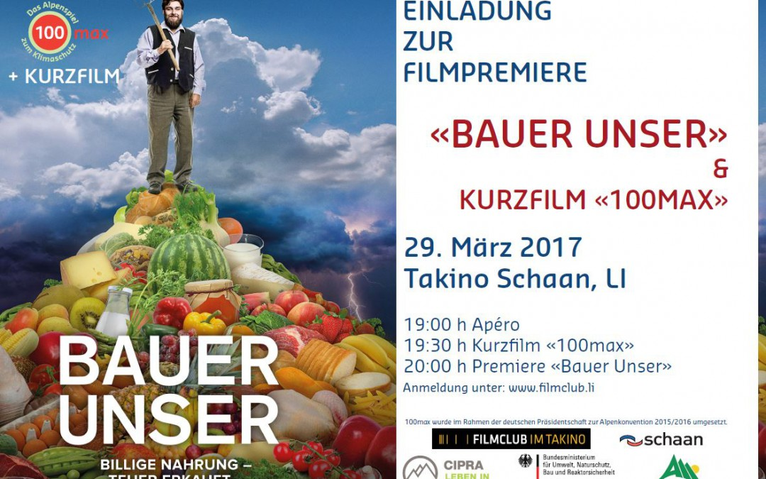Filmpremiere 100max & Bauer Unser in Liechtentein